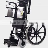 Rehabilitation Therapy Supplies Topmedi Medical Manual Standing Wheelchair for Paralysis Patient