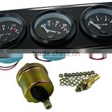 52mm (Oil Temp Gauge+Water Temp Gauge+Oil pressure Gauge Meter With Sensor 3in1 Electronic Triple Gauge Kit Auto Car Meter