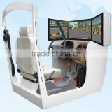 street view car driving simulator with 3 screens
