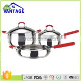 High quality 5 pcs casserole cooking tool pot non-stick cookware set ceramic for induction cooker