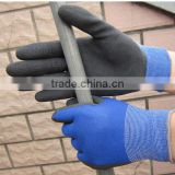 polyester crinkle latex grip work glove