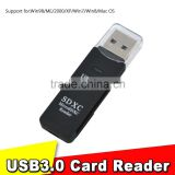2016 Superspeed 2 in 1 USB 3.0 Card Reader SD/MicroSD/TF Trans-flash Card USB3.0 Adapter Converter Tool