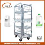 transport and display usage yogurt container roll cart