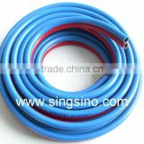 PVC Braided Welding Hose with Proper Fittings Used for Acetylene While Blue for Oxygen and Other Non Combustible Gases.