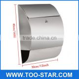 Newspaper Mailbox Lock Stainless Steel Wall Mount Mail Boxes