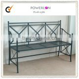 Metal frame iron garden park benches for four