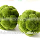 Made in china garden decoration cheaper artificial moss ball