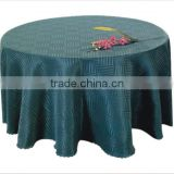 hotsale green jacquard table cloth for hotel restaurant weddings