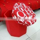 round shape folded storage stool