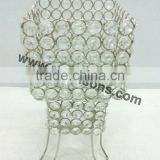 crystal beaded votive candle holders for wedding decorations and home decor