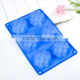 Decorative silicone cake mould lovely flower shaped six cake mould