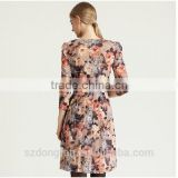New Design Ladies Clothes Flower Fancy Dress Costumes Custom Dress Shirts With Seeve