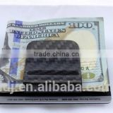 Men's Classic Double Sided Carbon Fiber Money Clip RFID blocking money clip