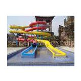 48m long fiberglass spiral slide , Water theme park swimming pool slides