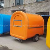 TELESCOPE orange color food cart for sale mobile donuts food trailer street fast food van trailer