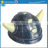 Children plastic viking helmet with horns for fancy dress