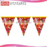 paper Merry Christmas Design flag,Party flag car mirror or window decoration hanging flag