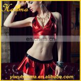 Imitation leather girls clubwear erotic lingerie sex cosplay costume