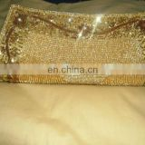 New wholesale Crystal studded beaded clutch bag india for women