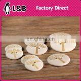 2016 fashion engraved easy sew buttons DIY tree craft wooden button
