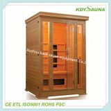 High quality one person solid wood steam sauna room