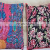 Hot Popular Handmade Design Royal Kantha Work Custom Luxury Cushion Cover For Sofa Seat Living Room Bed Decorative