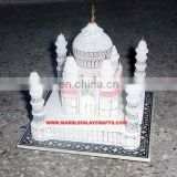 Marble Taj Mahal Replica Miniature ~ Hand Carved Decorativcorative Taj Mahal Model Showpiece ~ Valentine Gifts ~ Indian Souvenir