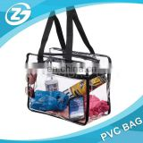 Clear Cosmetic PVC Bag with Shoulder Strap