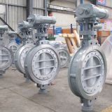 wafer style triple offset butterfly valve metal seated high performance no leakage