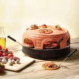 New Round Tabletop Clay Terracotta Electric Bbq Pizza Oven For Grill Clay Pizza Dome Oven