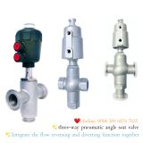 pneumatic three-way angle seat water diverting valve