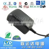 Alibaba Hot Selling 12v 1a wall mount charger set top box power adapter with UL FCC CE ROHS Approval