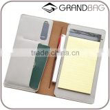 wholesale slim genuine plain leather passport holder organier bag ticket holder travel wallet