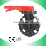 Ningbo/shanghai Plastic Grey Butterfly Valve(Handle Lever Type)