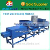 Salable Hydraulic wood pallet feet making machine /single head pallet feet hot press machine