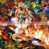 art supply canvas painting kit Hand Painted Knife Dog Oil Painting handmade animals oil paintings for home decor
