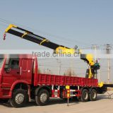 howo 8*4 30T crane truck gets up with the heavy and transport vehicle truck with loading crane