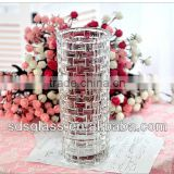 high white tall flower glass vase 20/25/30cm for wedding