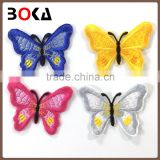 chic colorful embroidered butterfly patches new embroidery butterfly applique