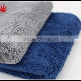 1000 GSM car hairdressing 40 * 60 deluxe microfiber coral fleece towel waxing polishing towels