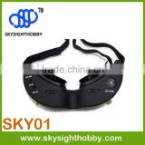 NEW SkyZone SKY-01 5.8G 40CH RC FPV AIO Goggles Head Tracing Video Glass Receiver External Lens