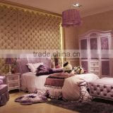 2015 Modern design kids bedroom furniture set purple princess bedroom set for girls                                                                         Quality Choice