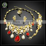 New products pearl crystal jewelry set fine jewelry china EHK563