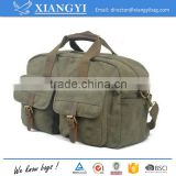 Durable washed Canvas 16OZ sport bag Rucksack Duffle Bag Travel Bag with PU details                                                                                                         Supplier's Choice