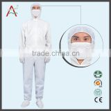 LABY-013-1-1 Pink S/M/L/XL/XXL esd washable coveralls with cap for cleanroom ebola protective clothing