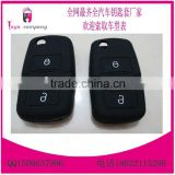 High quality key cover silicone for skoda key cover, vw silicone car key covers 3 buttons