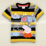 20106 Summer Children's george Pig wholesale kid clothing T-shirt boys casual short-sleeved 100% Cotton T-shirt