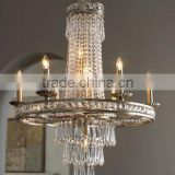 Rustic round crystal chandelier candle holders
