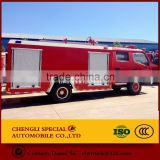 Firefighting truck with water tank-- Live-salvation fire vehicle in dangerous circumstance