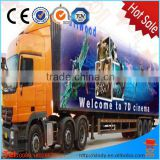 amusement park rides hydraulic and electric system truck mobile cinema 7d 9d cinema shooting game